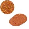 Sequins Hologram 30mm 1mm Hole Round Orange